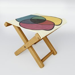 Matthew Luckiesh: The Subtractive Method of Mixing Colors (1921), vintage re-make Folding Stool