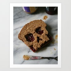 88. Peanut Butter and Skully Art Print