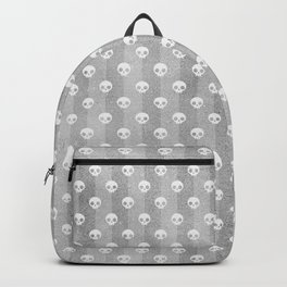 Grey & White Skulls Backpack
