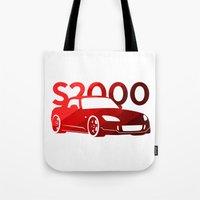 honda Tote Bags featuring Honda S2000 - classic red - by Vehicle