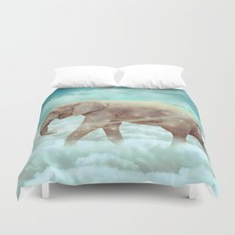 Walk With the Dreamers (Elephant in the Clouds) Duvet Cover