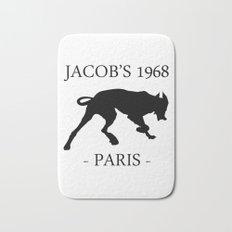 Black Dog II Contour White Jacob's 1968 fashion Paris Bath Mat