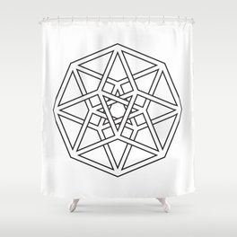 Hypercube Shower Curtain