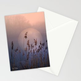 Lake with heart Stationery Cards