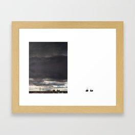 Los guerreros se marcharon. Framed Art Print