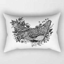 Rooster - Go Vegan Rectangular Pillow