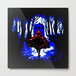 Shadow Light Of Tardis Metal Print
