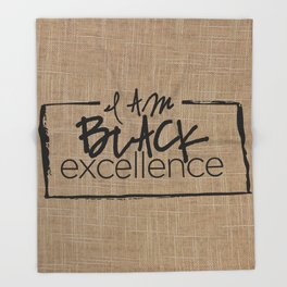 I AM BLACK EXCELLENCE Throw Blanket