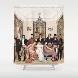 Pride and Prejudice and Werewolves Shower Curtain