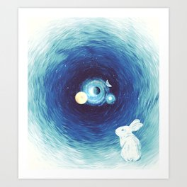 Down The Rabbit Hole Art Print
