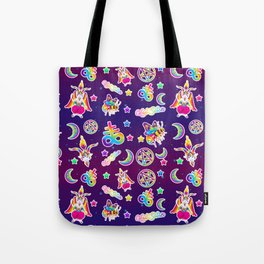 1997 Neon Rainbow Occult Sticker Collection Tote Bag