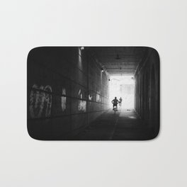 The Cyclists Silhouette Bath Mat