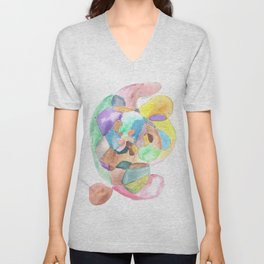 Life and Meaning 1 | Abstract Watercolors Unisex V-Neck