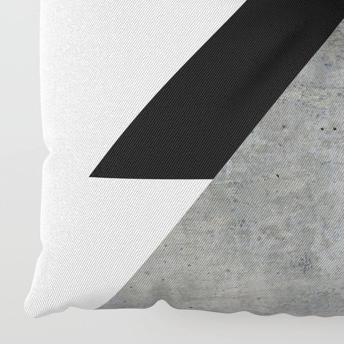 Arrows Monochrome Collage Floor Pillow