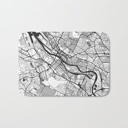 Bremen Map Gray Bath Mat
