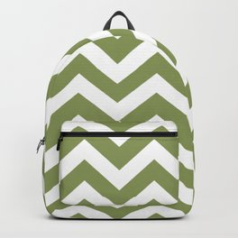 Turtle green - green color - Zigzag Chevron Pattern Backpack