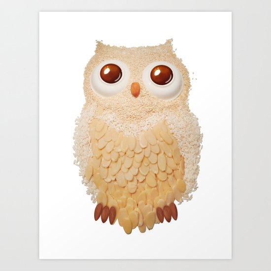 Owl Collage #5 Art Print