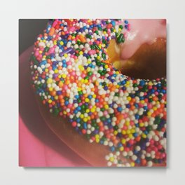 Donut Tread On Me Metal Print