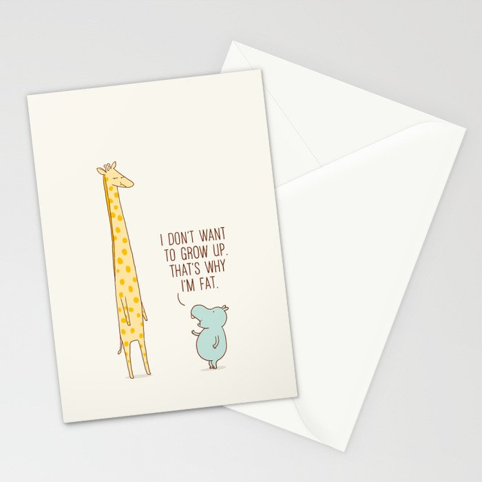 I don't want to grow up Stationery Cards
