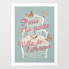 PAIRIS - ville de l'amour Art Print