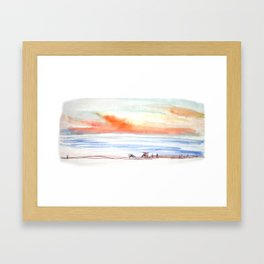Sunset Sky by the Sea Framed Art Print