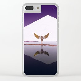 LATE NIGHTS Clear iPhone Case