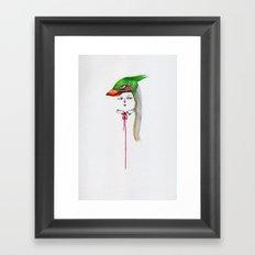 Green Pajarita Framed Art Print