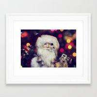 santa Framed Art Prints featuring Santa by ThePhotoGuyDarren