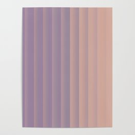 Lavender and Neutral Color Vertical Stripes Poster