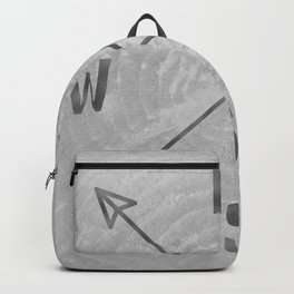Compass Black and White Tree Backpack