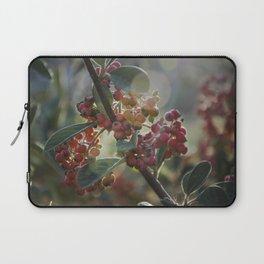 Soft Light on Winterberry Shrub Laptop Sleeve