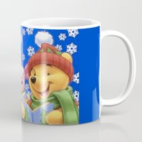 pooh Mugs featuring pooh 2 by Just Be Love