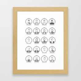 South American Authors Framed Art Print