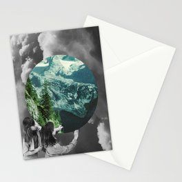 Green Melody Stationery Cards