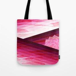 Serene Contemporary Flower Design Tote Bag
