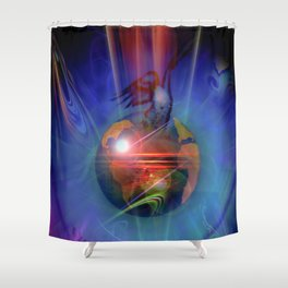Our world is magic - Freedom Shower Curtain