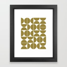 Mid Century Modern Geometric 04 Flat Gold Framed Art Print