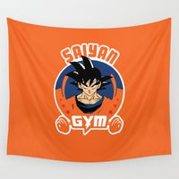 gym Wall Tapestries featuring Gym G. by Buby87