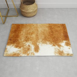Brown Cowhide Farmhouse Decor Rug