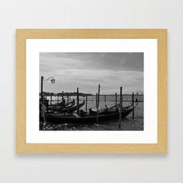 Gondolas off Riva degli Schiavoni Framed Art Print
