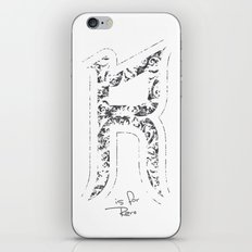 R - is for Rare - white version iPhone & iPod Skin