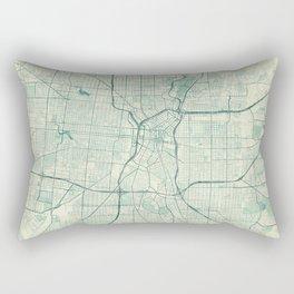 San Antonio Map Blue Vintage Rectangular Pillow