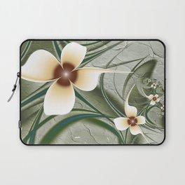 Fractal Doodadling with Flowers Laptop Sleeve