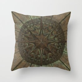 Antique Faux Bronze Style Pattern Throw Pillow