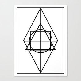 Black lines minimalism Canvas Print