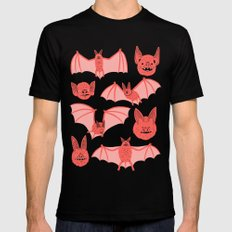 Bats Black Mens Fitted Tee LARGE