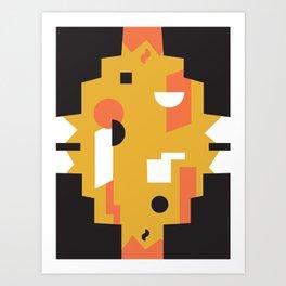 Techno Thunder Art Print