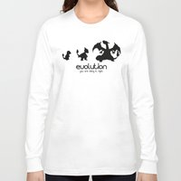 evolution Long Sleeve T-shirts featuring evolution by Ainy A.