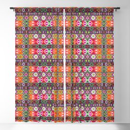 N247 - Colored Oriental Traditional Boho Moroccan Style Blackout Curtain