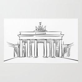 Brandeburg Gate in Berlin Rug